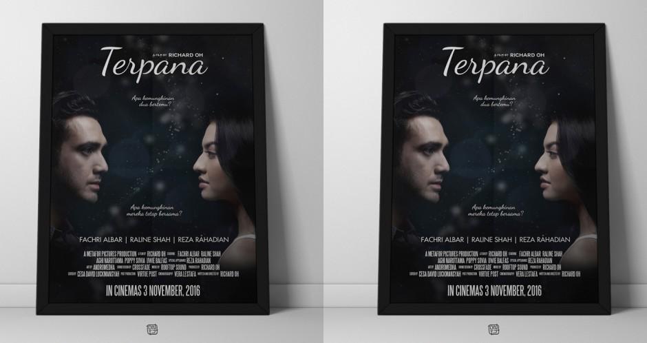 poster terpana framed